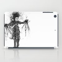 edward scissorhands iPad Cases featuring Edward Scissorhands by V.Live