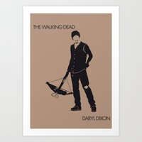 daryl Art Prints featuring Daryl by the minimalist