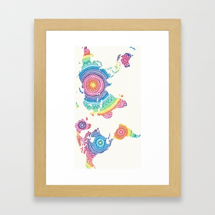 The world is a beautiful place Framed Art Print
