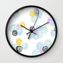 Fan's pattern design- Purple love Ocean Safari Wall Clock