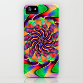 frequency mandala iPhone Case