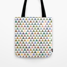 Geometric Triangles - Natural Tones Tote Bag