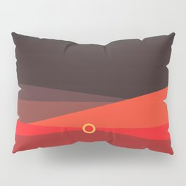 Sunset on the beach at 6:47 pm Pillow Sham