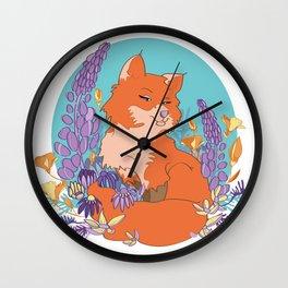 Foxy Moxie Wall Clock