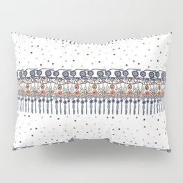 Retinal Circuitry - Color on White Pillow Sham