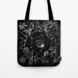 XXI. The World Tarot Card Illustration (Zodiacs) Tote Bag