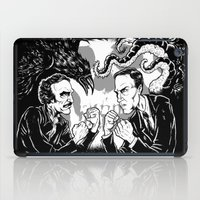 lovecraft iPad Cases featuring Poe vs. Lovecraft by The Cracked Dispensary