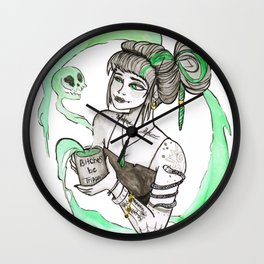 Coffee Witch Wall Clock