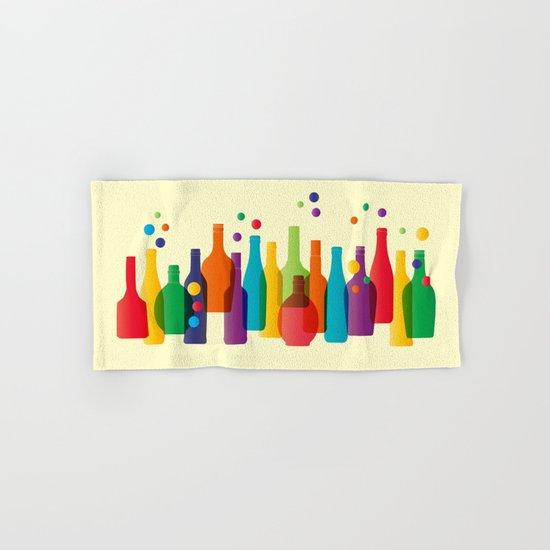 Colored bottles Hand & Bath Towel