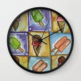 Watercolor - SUMMER TREATS Wall Clock