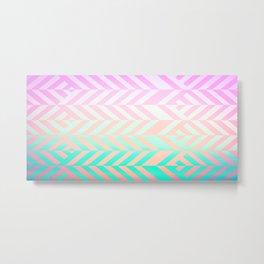 Chevron pattern Metal Print