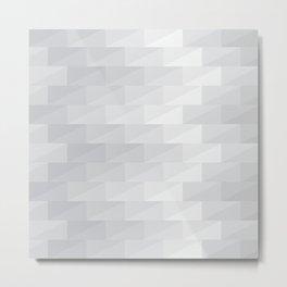 Gray tone cubes with zig zag shape Metal Print