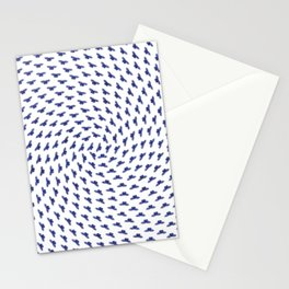 Blue butterflies in the swarm Stationery Cards