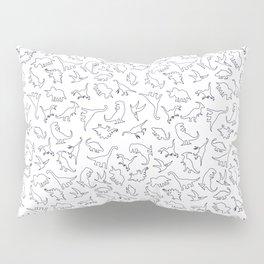 Dinosaurs Outline Pattern Pillow Sham