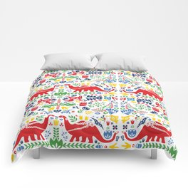 Swedish Folk Art Dinosaurs Comforters