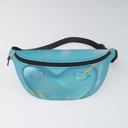 Stabbed water drop heart Fanny Pack