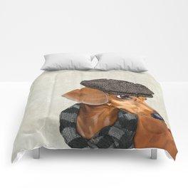 Elegant Mr. Dachshund Comforters