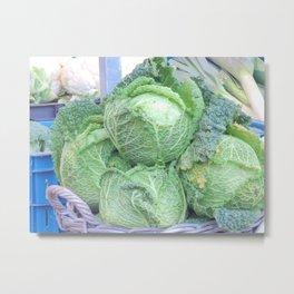 Cabbage basket Metal Print