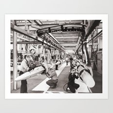 Star Wars factory Art Print