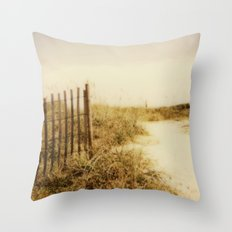 Florida Beaches - Polaroid Throw Pillow