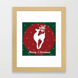 Merry Christmas reindeer Framed Art Print