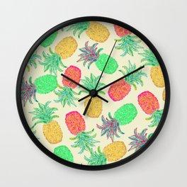 Pineapple Pandemonium (multi) Wall Clock