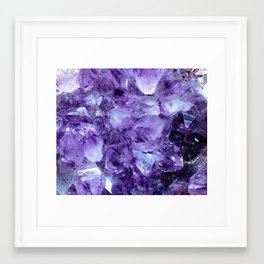 Amethyst Crystals Framed Art Print