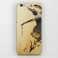crane iPhone & iPod Skins featuring Crane  by Devon Busby Busbyart