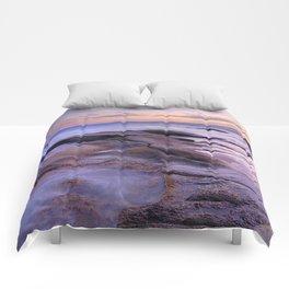 Purple Sunset At Vela Blanca Tower Comforters
