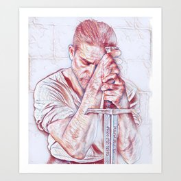 King Arthur Art Print