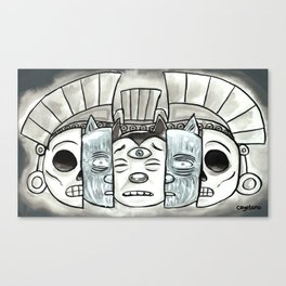 The Mask of Death and Rebirth Canvas Print