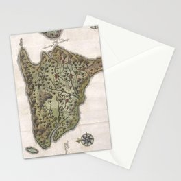 Vintage Map of Bali Indonesia (1760) Stationery Cards