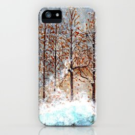 Snow Flurries on Moon Lake up Dewdrop Holler iPhone Case