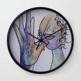 ASL Mother in Denim Colors Wall Clock