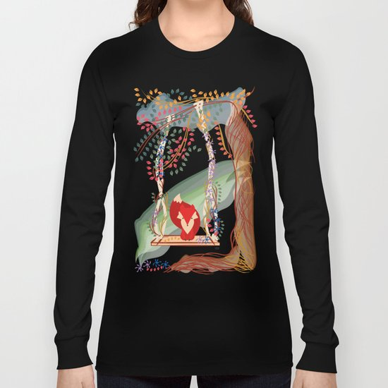 Vibrant Jungle Fox Long Sleeve T-shirt