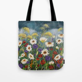Stormy field. Tote Bag