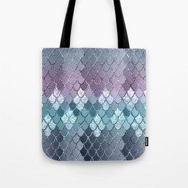 Mermaid Scales Navy Blue Teal Purple Glam #1 #shiny #decor #art #society6 Tote Bag