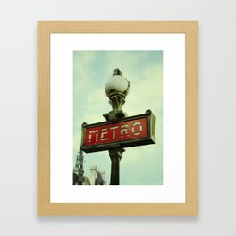 Riding on the Metro Framed Art Print