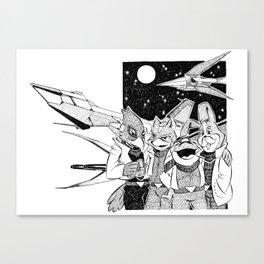 Starfox Team Canvas Print