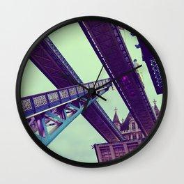 London Bridge lifting - Fine Art Travel Landmarks Photography Wall Clock