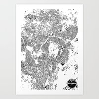 tokyo Art Prints featuring TOKYO by Maps Factory