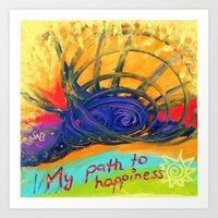 My Path to Happiness Art Print
