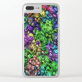 Abstract Topographic Spectrum Clear iPhone Case