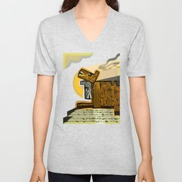 The Scream from Home Unisex V-Neck
