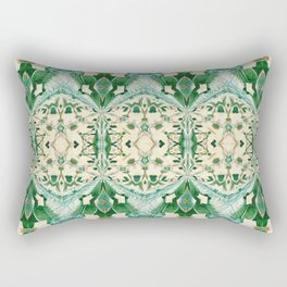 Boujee Boho Green Lace Geometric Rectangular Pillow