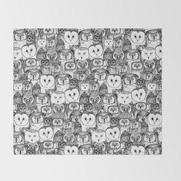 just owls black white Decke