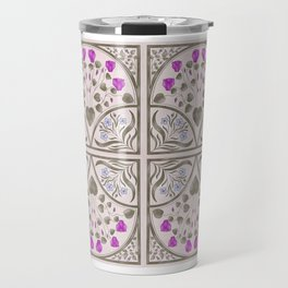 Cyclamen and Oleander Art Nouveau Illustration Travel Mug