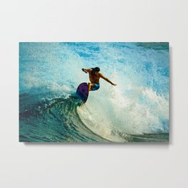 Surfer's Flow Metal Print