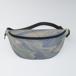 Blue and Green Ocean Radiating Waves Fanny Pack