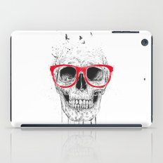 Skull with red glasses iPad Case